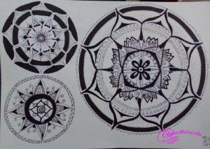 3 Mandalas selbstgemalt von Miriam.Seelenreisende